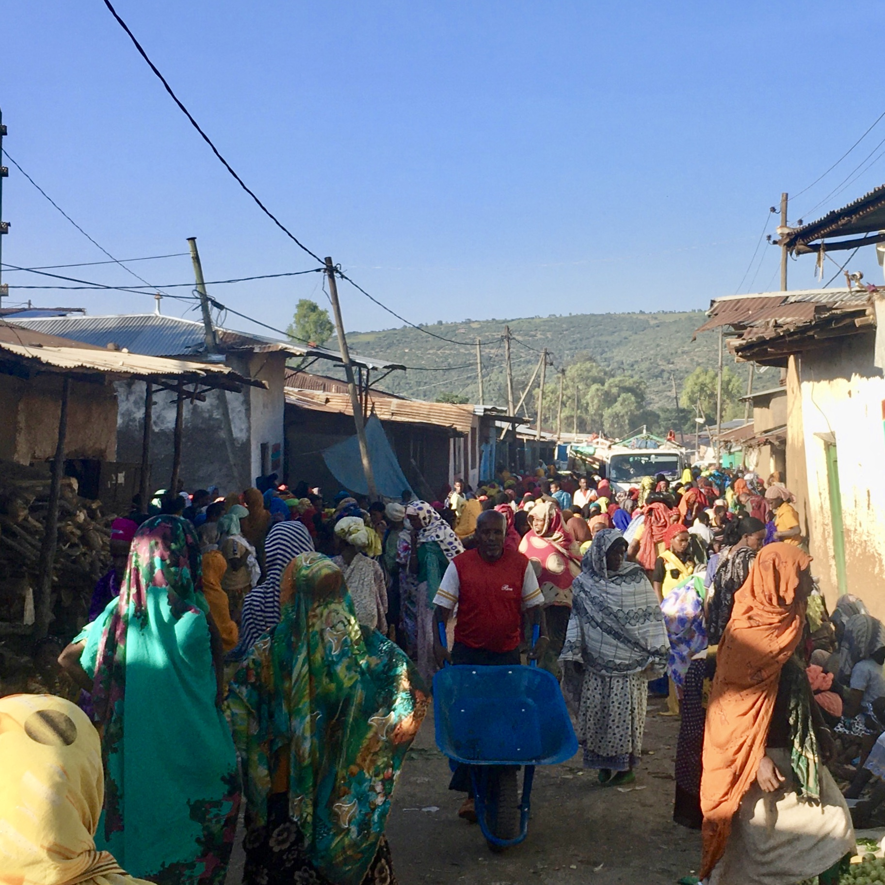 Market day in Weter, East Hararghe, Ethiopia