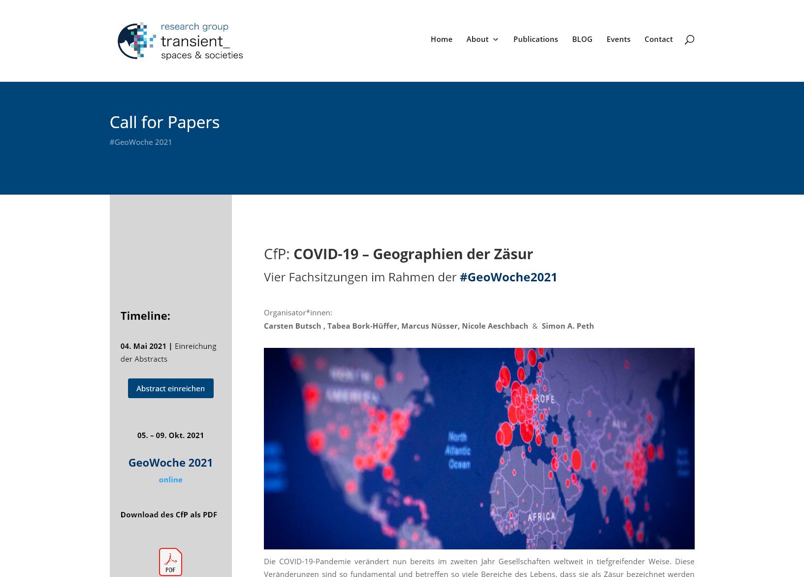 COVID-19 – Geographien der Zäsur